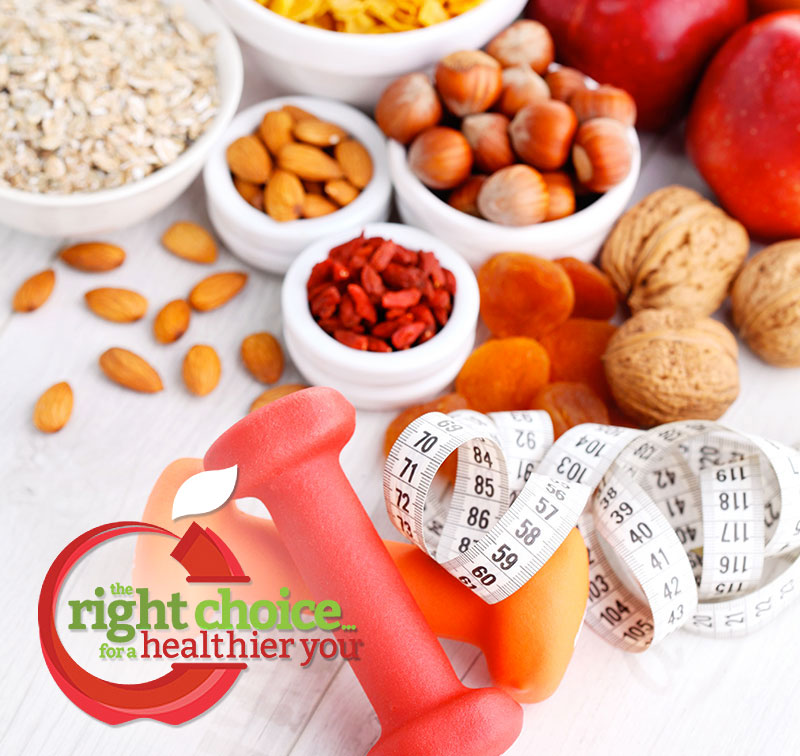 Right Choice healthy vending with fruit and nuts