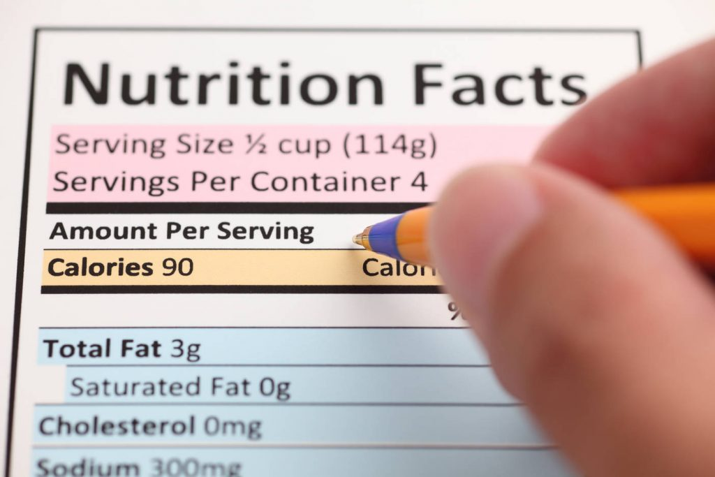 Ingredients and Nutrition Labels in New Orleans